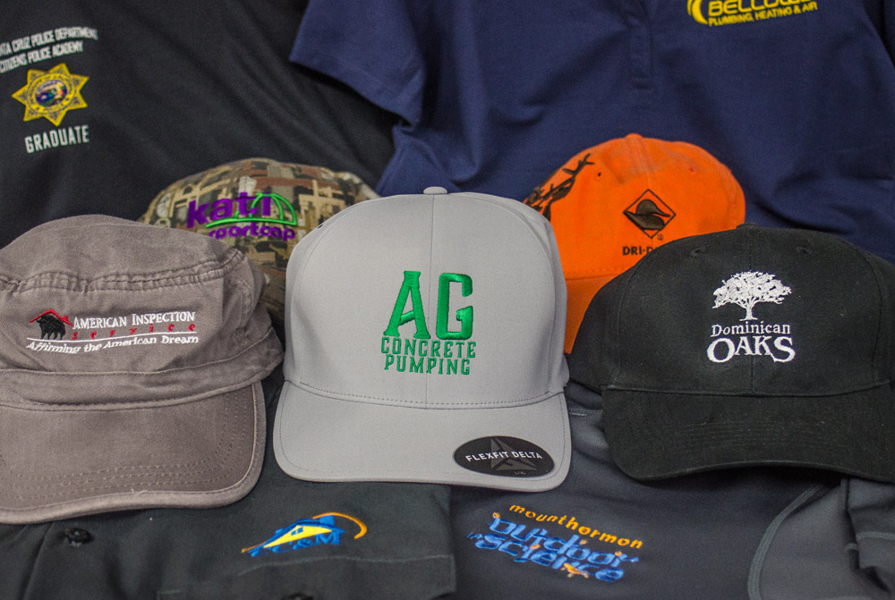 Logo Embroidery Services on Hats in California